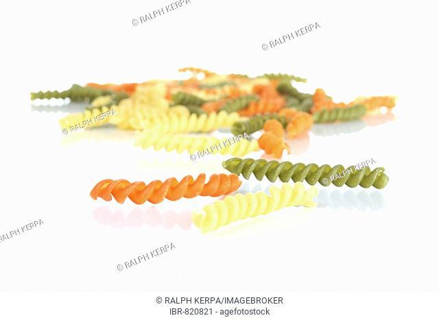 Spiral noodles, fusilli pasta
