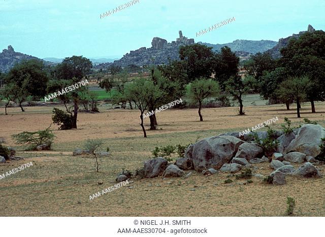Farmland in Semi-Arid Tropics near Hyderabad India