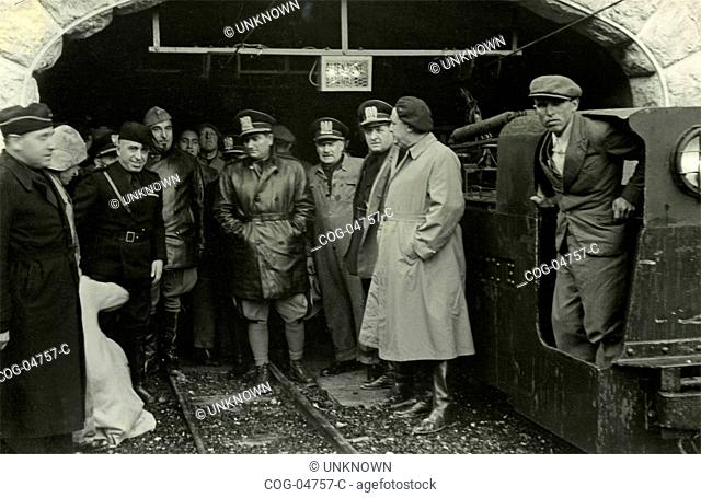 The fascist Galeazzo Ciano visits the Siegfried defense line, France
