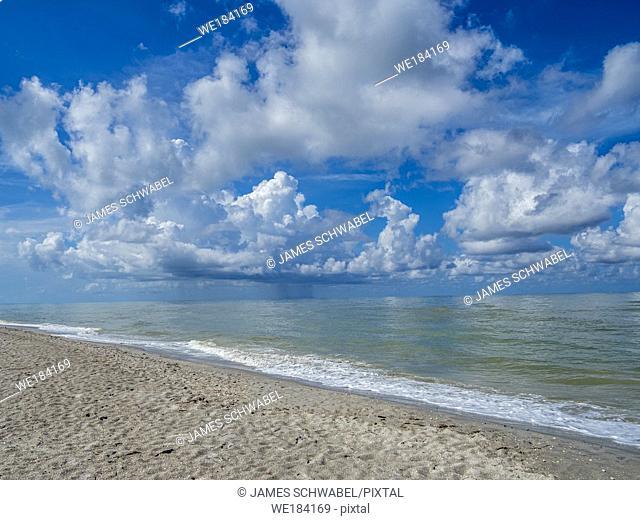 Blind Pass Beach on the Gulf of Mexico on Sanibel Island Florida