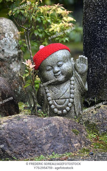 Senso-ji temple. Jinzo, Statue that protects the children, travelers and pregnant women, Asakusa district, Tokyo, Japan, Asia