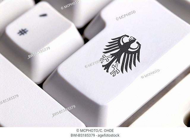 computer key with federal eagle