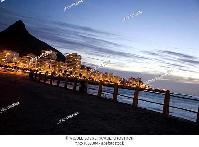 Sea Point Promenade in Evening - Cape Town