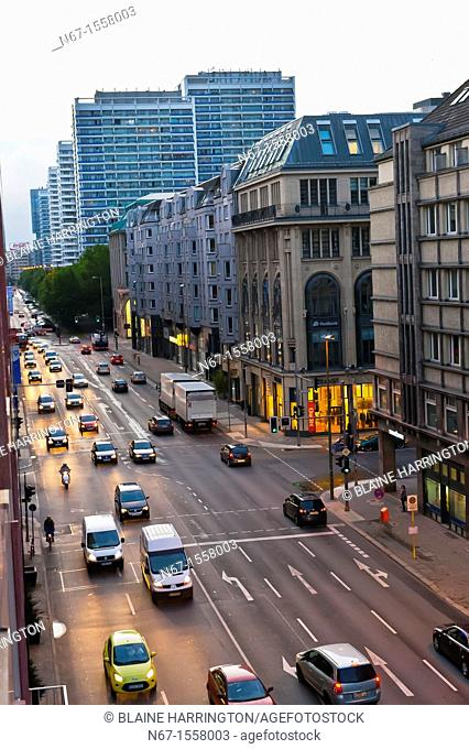 An overview of Leipziger Strasse, Mitte, Berlin, Germany