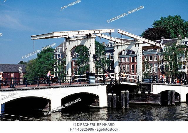 Skinny Bridge, Netherlands, Holland, Europe, Holland, Amsterdam, bridge, canal, capital, channel, cities, city locatio