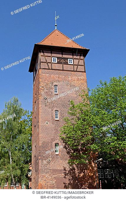 Old Water Tower at the Ratsmühle mill, Lüneburg, Lower Saxony, Germany