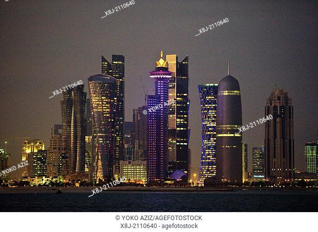 Qatar, Doha, skyline