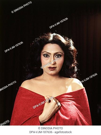 1980, Portrait of Indian film actress Bindu