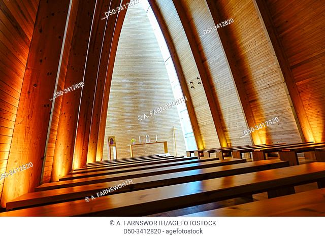 Turku, Finland The St. Henry's Ecumenical Art Chapel was built in 2004 out of Finnish wood on the island of Hirvensalo
