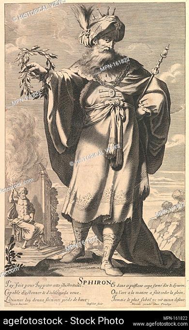 Sphiron. Series/Portfolio: Les Merveilles du monde; Artist: Gilles Rousselet (French, Paris 1614-1686 Paris); Artist: Abraham Bosse (French