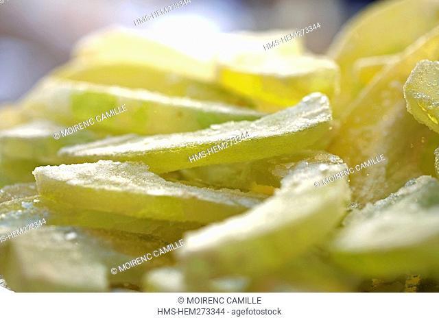 Italy, Campania, Amalfi Coast, listed as World Heritage by UNESCO, Amalfi, Pasticceria Andrea Pansa dating of 1830, candied fruits, lemons