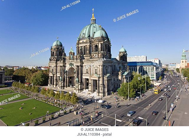 Exterior view of Berlin Cathedral, Berlin, Germany