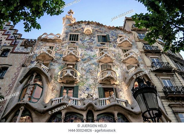 Casa Batllo by Antonio Gaudio, Barcelona, Catalunia, Spain