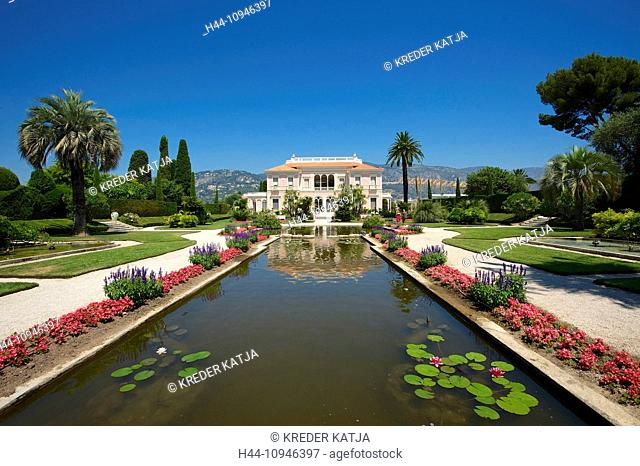 France, Europe, South of France, Cote d'Azur, Ephrussi de Rothschild, Saint Jean, Cap Ferrat, villa, house, home, building, architecture, place of interest