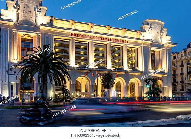 France, Nice, Promenade des Anglais, Palais la Mediterranee, Hotel, Casino, theatreNice, Alpes Maritimes, Provence, French Riviera, Mediterranean, France