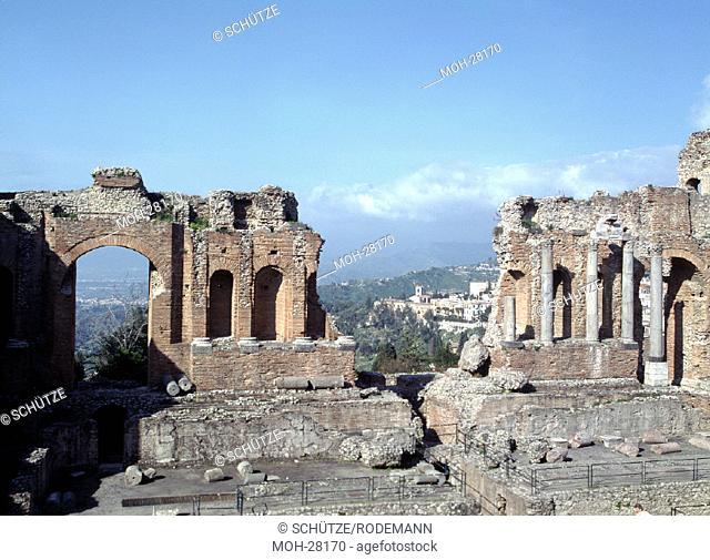 Taormina, antikes Theater/ Römische Schaufassade