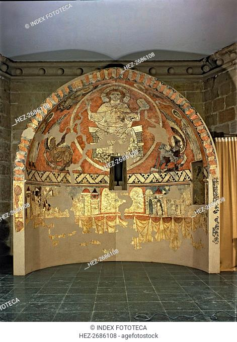 'Pantocrator', tempera Painting from the apse of the church of San Pedro de Villamana (Huesca)