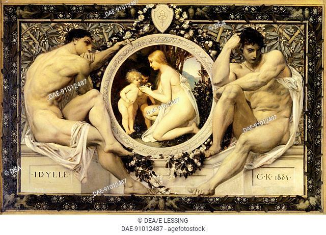 Idyll, 1884, by Gustav Klimt (1862-1918).  Vienna, Historisches Museum Der Stadt Wien (History Museum)