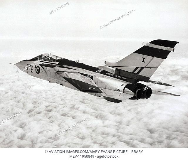 The Panavia Mrca Tornado Second Prototype Flying with Variable-Geometry Wing Swept-Back in High-Speed Flight