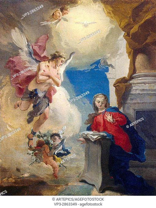 Tiepolo . Annunciation . 1724. Hermitage State Museum - St Pétersburg
