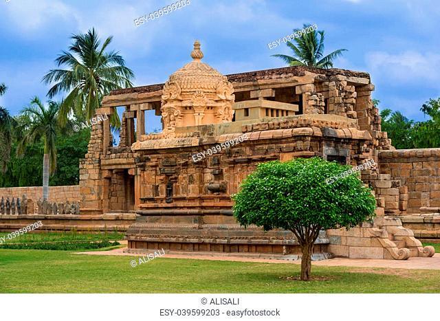 fragment ancient Temple at the Gangaikonda Cholapuram, India, a UNESCO World Heritage Site