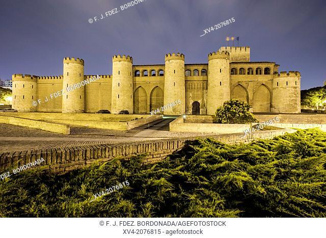 Palace of the Aljafería in Saragossa, Aragón, Spain
