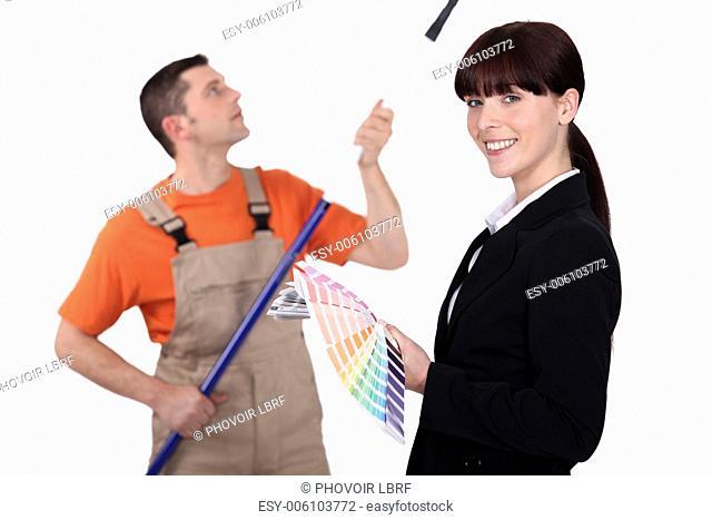 Interior decorator and painter
