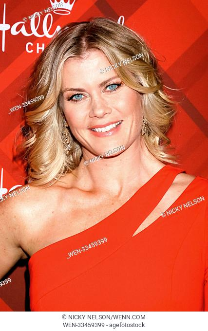 Hallmark's 'Christmas at Holly Lodge' screening at 189 The Grove Drive - Arrivals Featuring: Alison Sweeney Where: Los Angeles, California