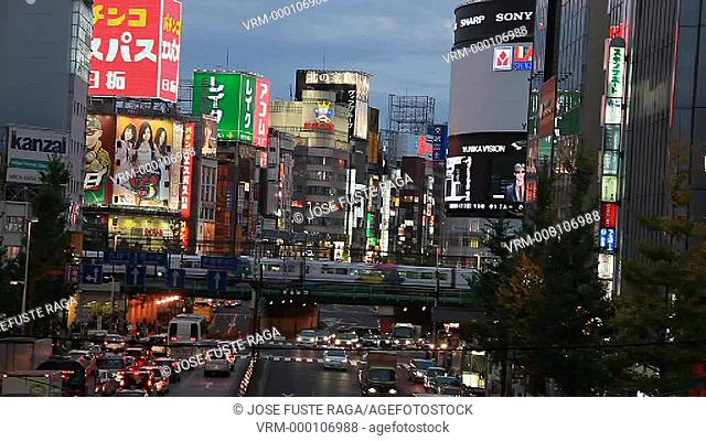 Japan, Tokyo City,Shinjuku District ,Shinjuku Dori Avenue