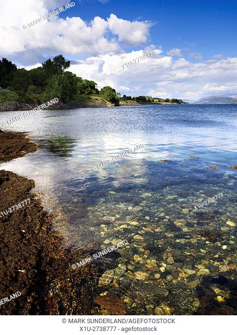 Coast at Achnacroish Isle of Lismore Argyll and Bute Scotland
