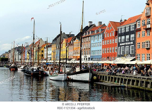 Kanal Nyhavn, Kopenhagen, Daenemark