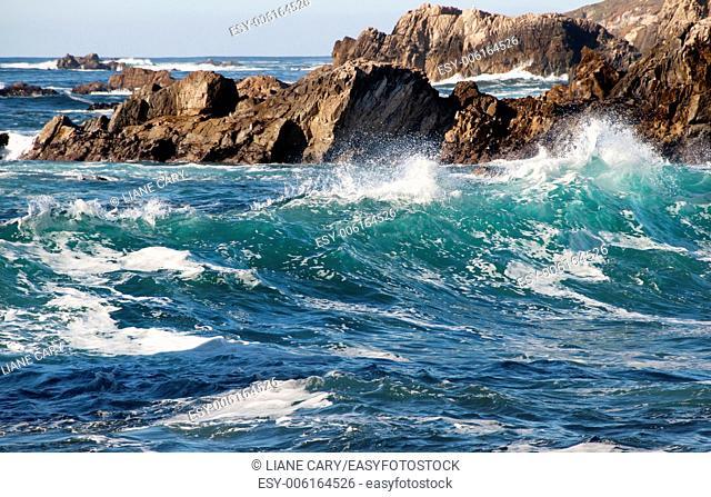 dramatic rugged coast of Big Sur California