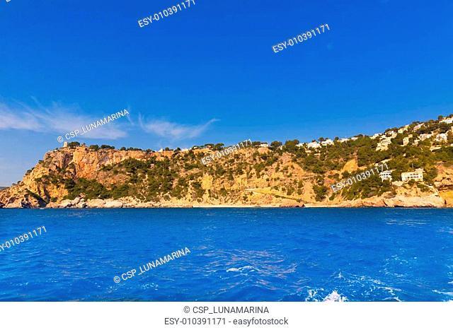 Javea playa Ambolo caleta Figuera Xabia in Alicante