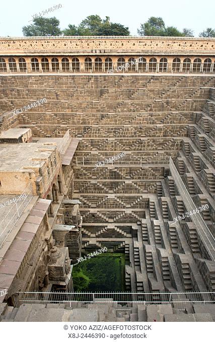 India, Rajasthan, Abhneri, water tank