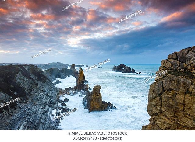 Cliffs. Costa Quebrada (Broken Coast), Cantabria, Spain, Europe