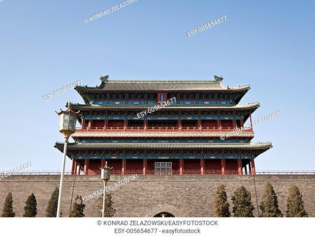 Zhengyangmen Gatehouse commonly know as Qianmen in Dongcheng District, Beijing, China