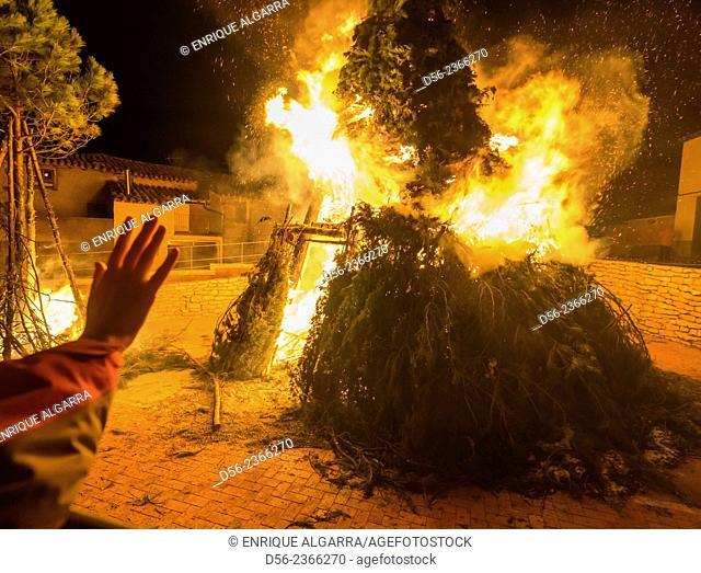 St Antoni fire festival, Cinctorres, Castellon province, Spain