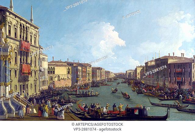 Canaletto . Canal Grande, A regatta. National Gallery London