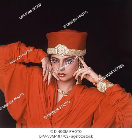 1990, Portrait of Indian film actress Rekha