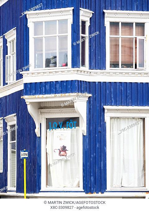 The historic center. Isafjoerdur, the capital of the westfjords. The Westfjords (Vestfirdir) in Iceland. Europe, Northern Europe, Iceland