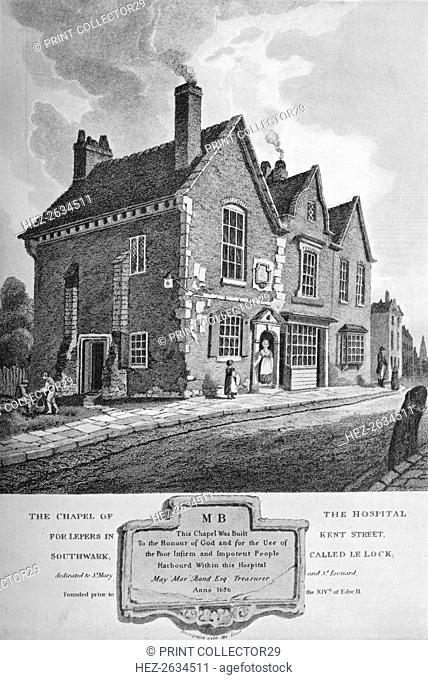 Chapel of the Hospital for Lepers in Kent Street, Southwark, c1813 (1906). Artist: C John M Whichelo