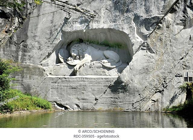 Dying Lion of Lucerne, Gletschergarten, Lucerne, Switzerland