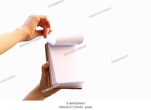 Woman Hand Holding Note