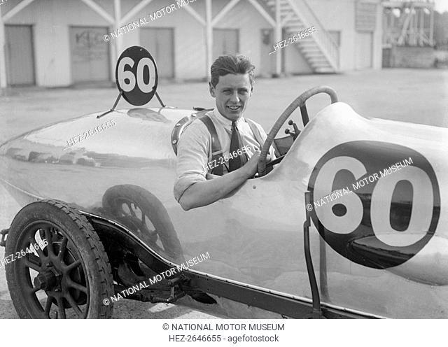 Bertie Kensington Moir in his Aston Martin at the JCC 200 Mile Race, Brooklands, 1921. Artist: Bill Brunell