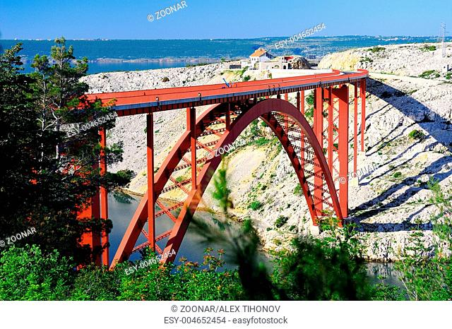 The Maslenica Bridge in Croatia