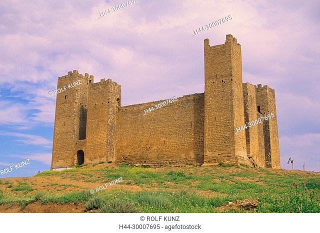 Schloss, Sadaba, Comarco Cinco Villas, Provinz Zaragoza, Spanien