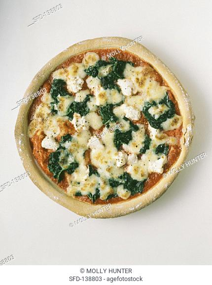 Whole Spinach and Feta Cheese Pizza