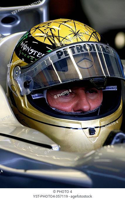 Friday Practice 1, Michael Schumacher GER, Mercedes GP Petronas F1 Team, MGP W02, Belgian Grand Prix, Francorchamps