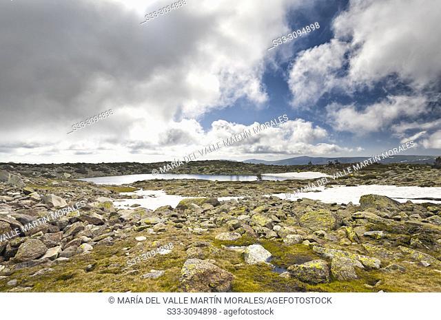 Five Lagoons at National Park of Penialara Lagoons. Sierra de Guadarrama. Madrid. Spain