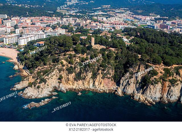 Sant Joan Castle in Fenals. Lloret de Mar Costa Brava